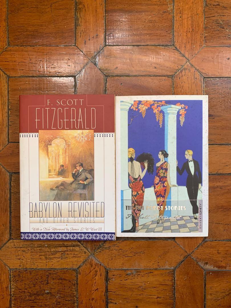F. Scott Fitzgerald Lot - Short Stories Book (Babylon Revisited and The Pat Hobby Stories)