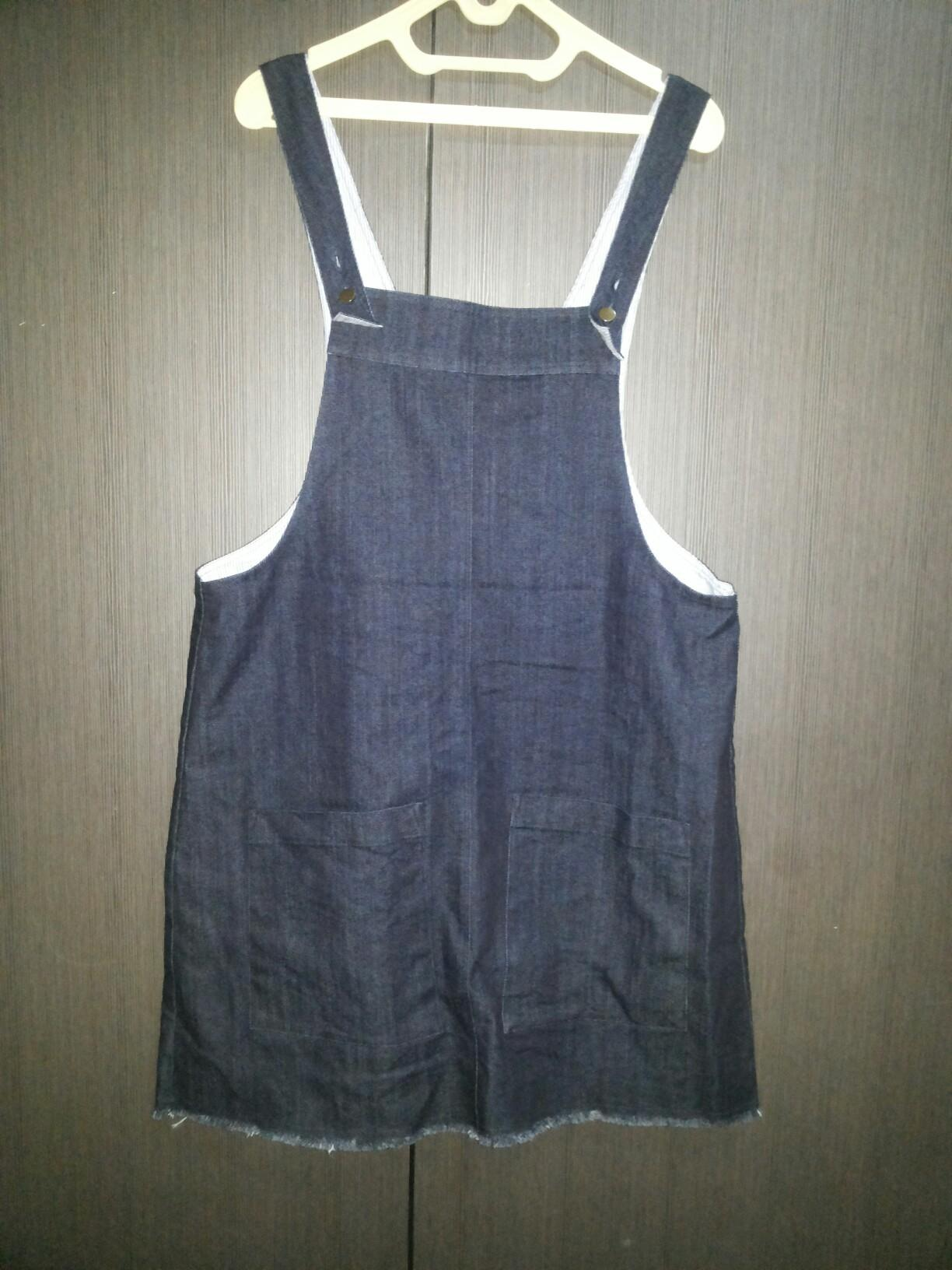 FIXED PRICE- Denim overall skirt