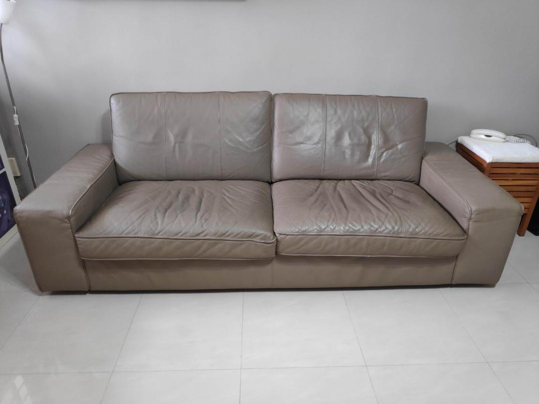 Sensational Ikea Kivik 3 Seater Leather Sofa Furniture Sofas On Carousell Gmtry Best Dining Table And Chair Ideas Images Gmtryco