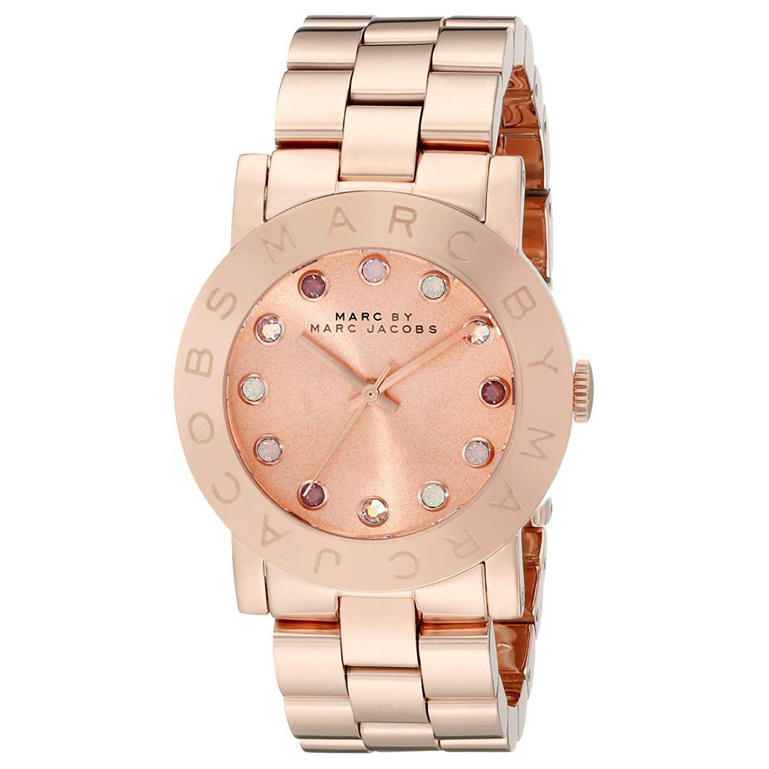 f3556fd46c949 Instock] Marc by Marc Jacobs Amy Texter Rose Dial Rose Gold-tone ...