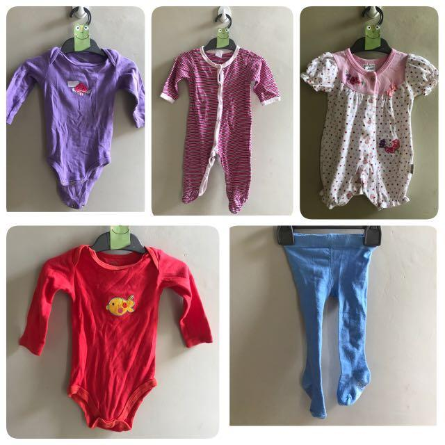 Jumper bayi 3-7 months 5 items