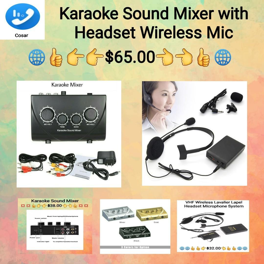 Karaoke Sound Mixer Professional Audio System Portable Mini Digital Audio Sound Karaoke Machine Echo Mixer System / Mic Transmitter