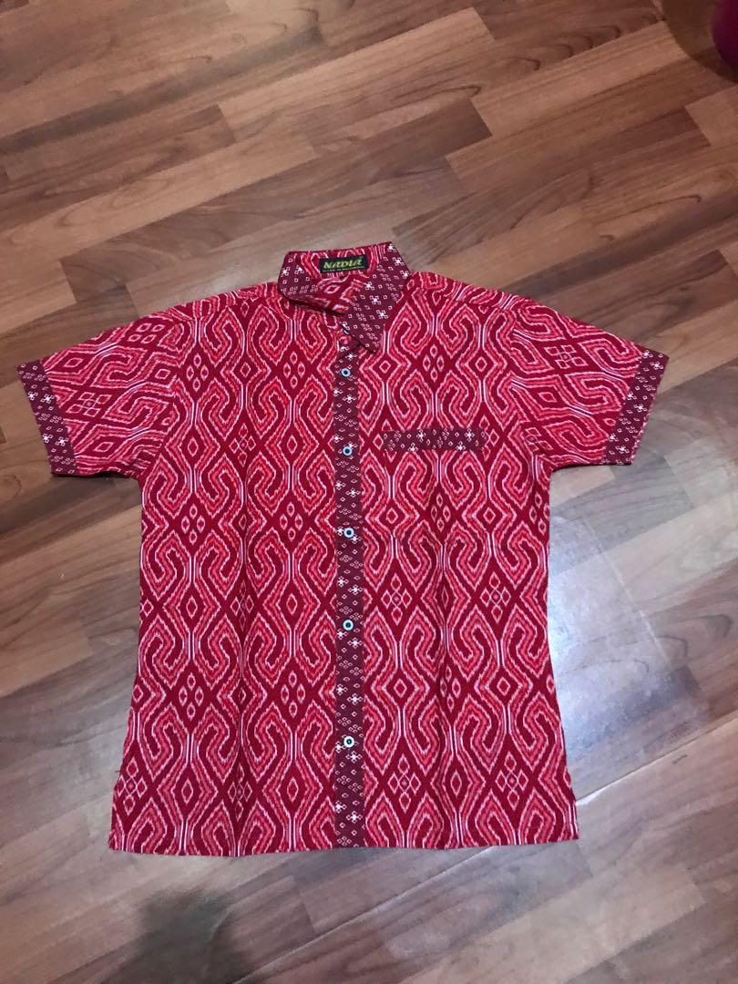 Kemeja Batik merah size L