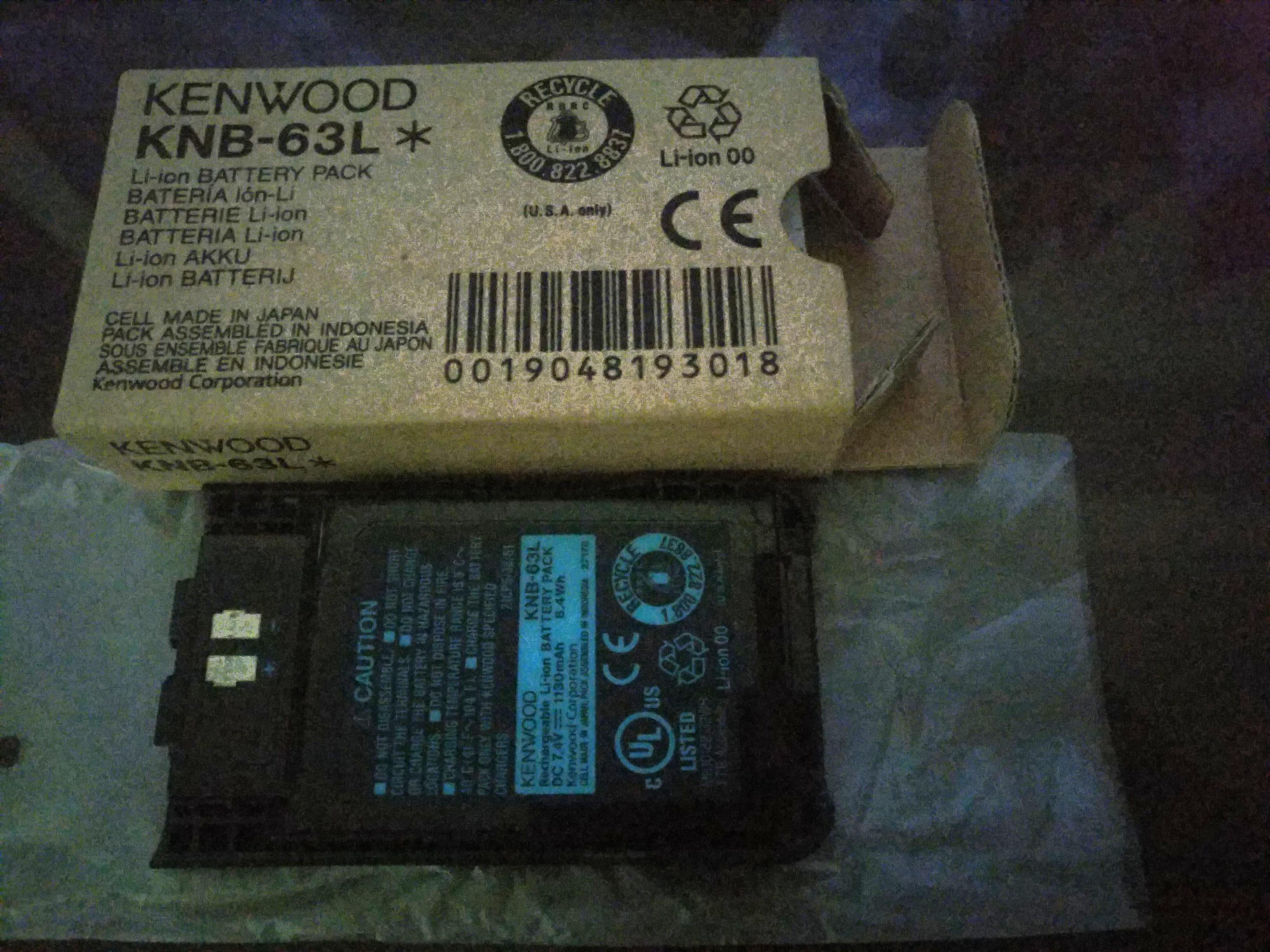 Kenwood Battery Pack KNB-63L