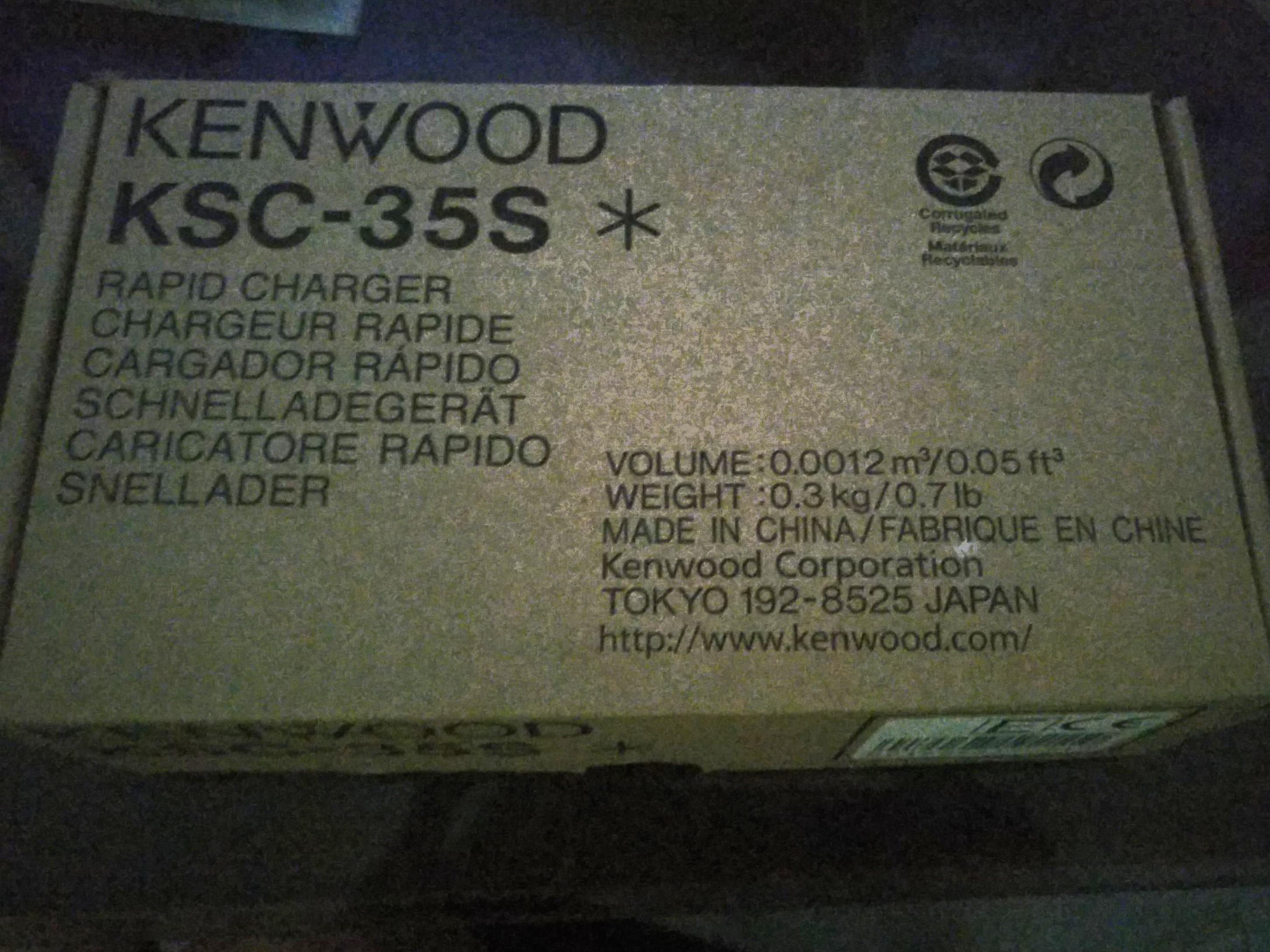Kenwood Rapid Charger KSC-35S