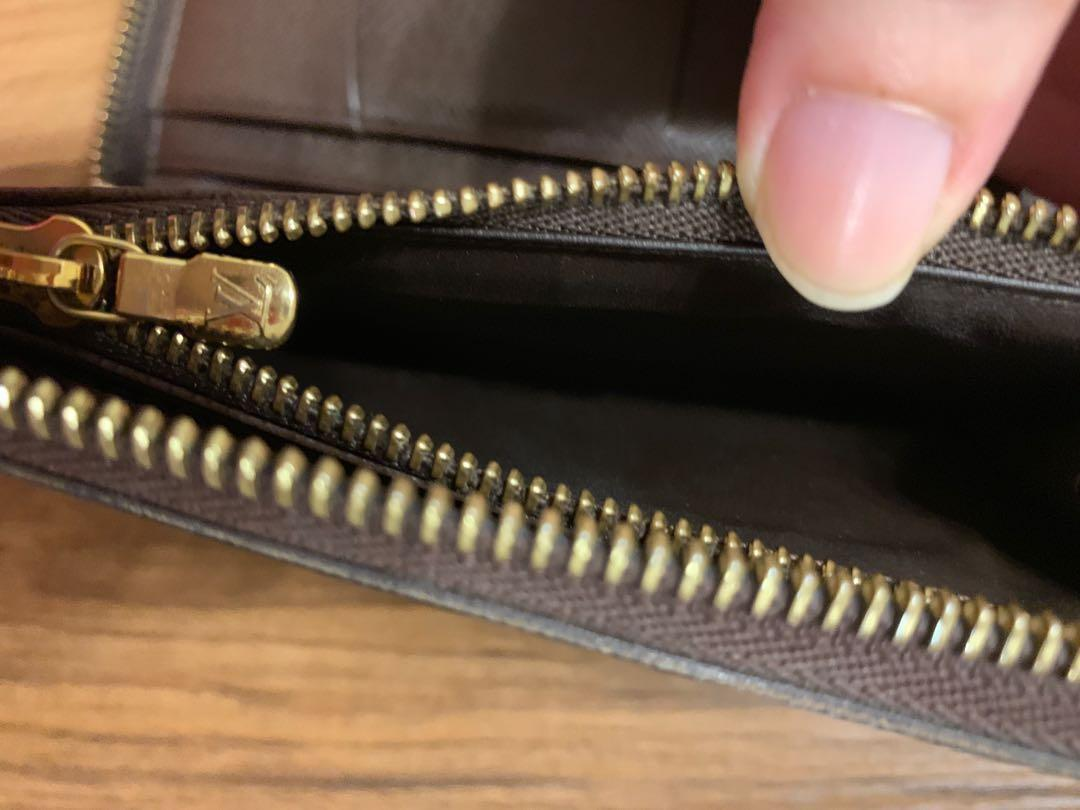 CNY 2020 ❤️SALE! Louis Vuitton 100% Authentic Damier Ebene Zippy Compact Wallet OM Old Model Flap Flip Open LV Full Set