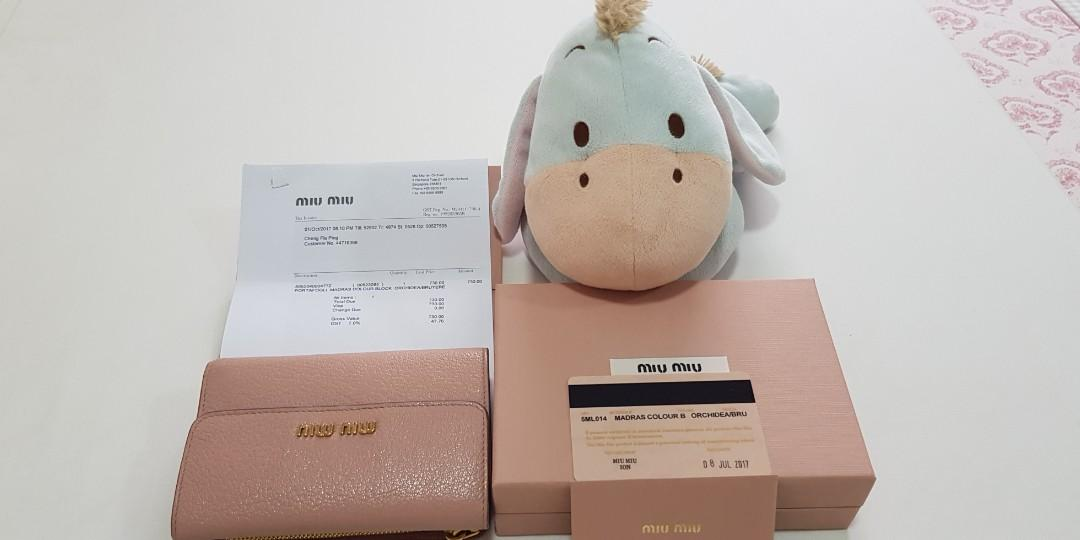 Miu Miu Ladies Wallet guaranteed authentic.