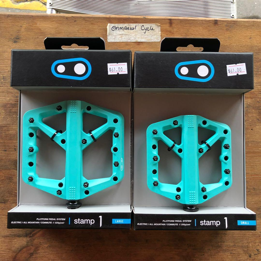 BLUE Large NEW Crank Brothers Stamp 1 Mountain Bike Pedals