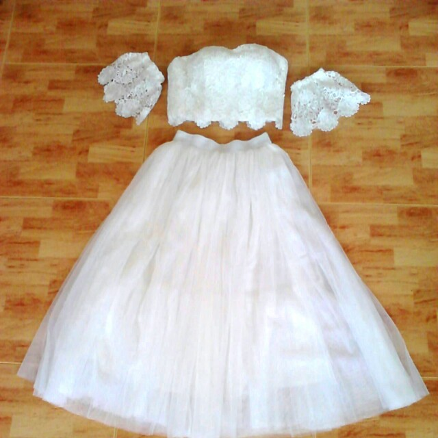 5036640015 White wedding party dress, Women's Fashion, Clothes, Dresses ...