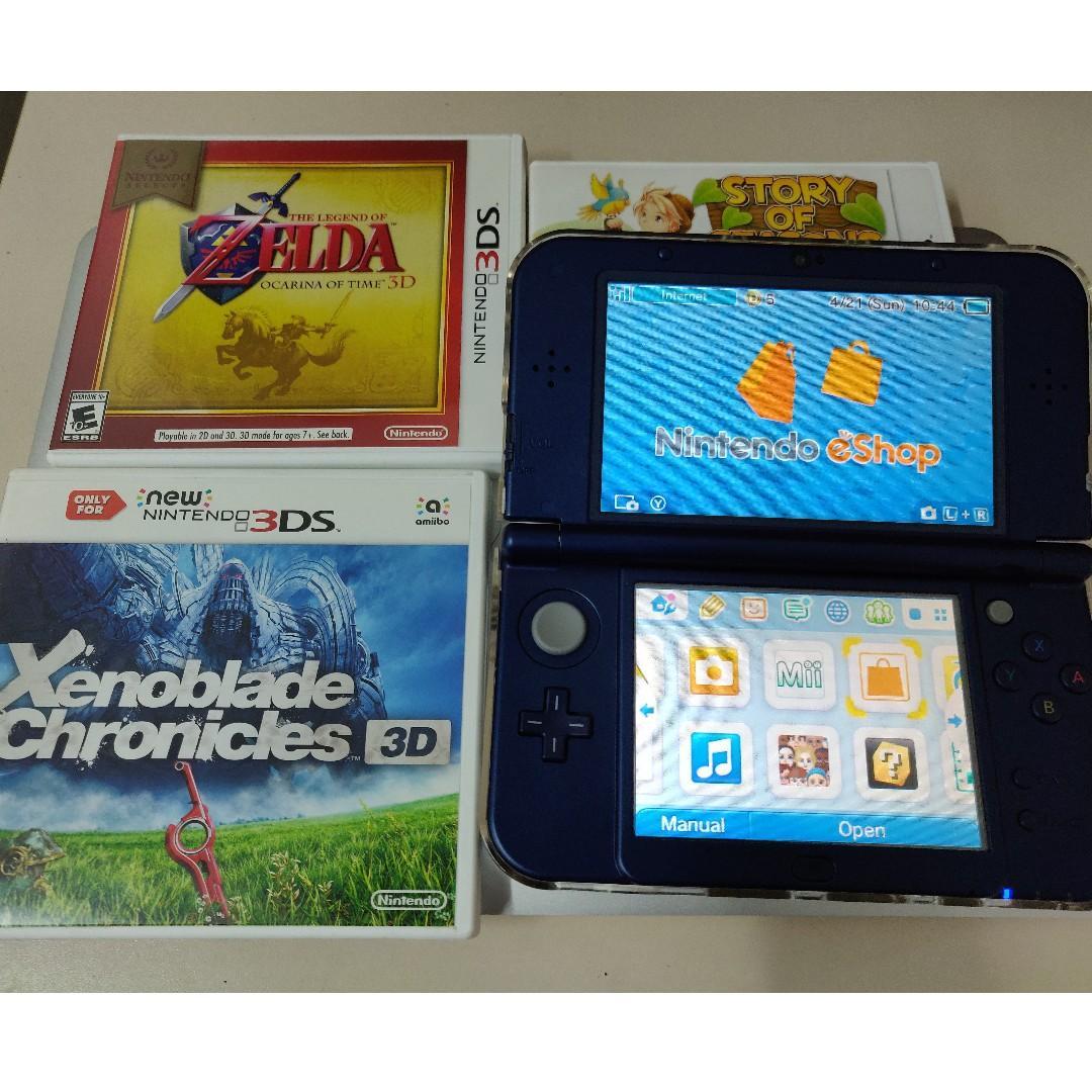 Nintendo 3DS XL Metallic Blue + 1 game