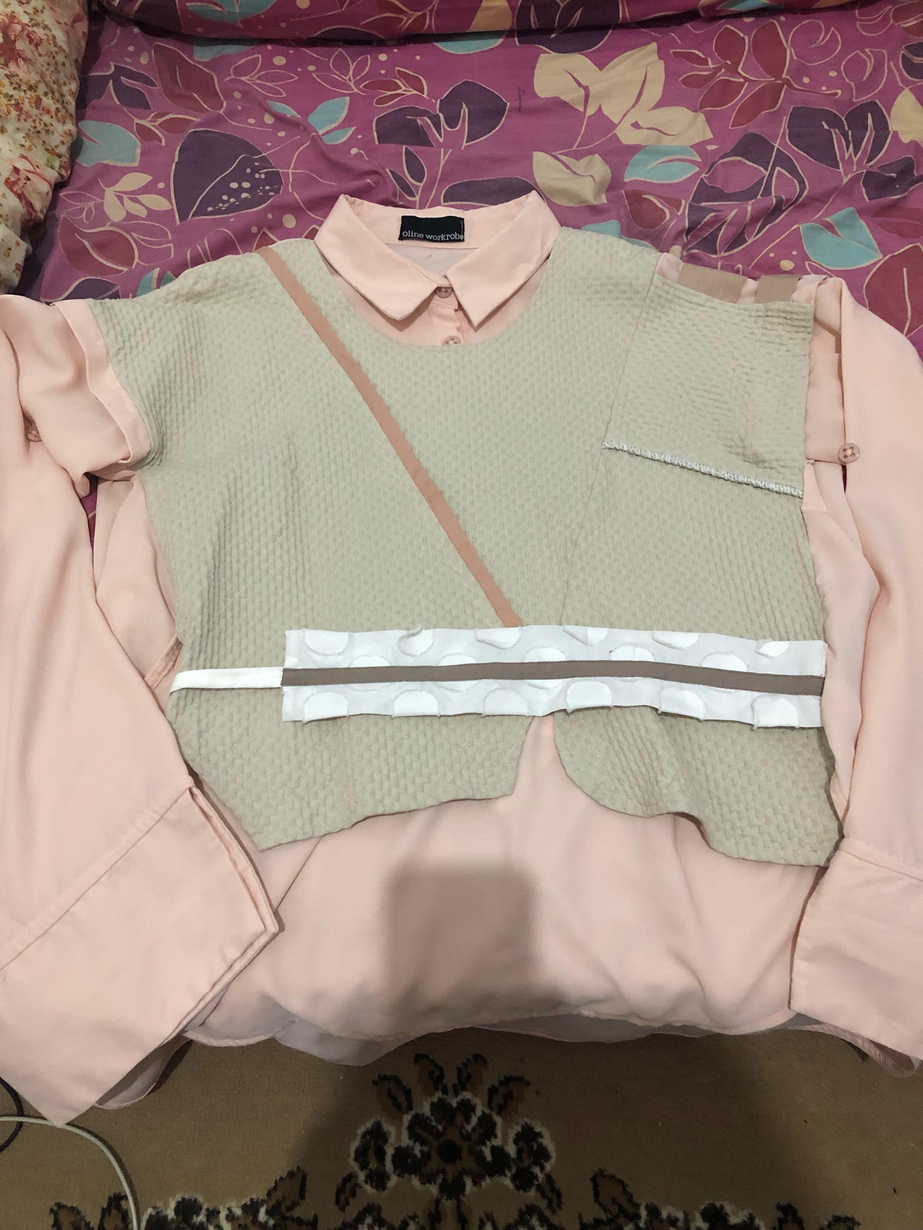 Oline Workrobe - dusty pink blouse