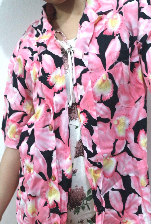 Pink Floral Shirt Women