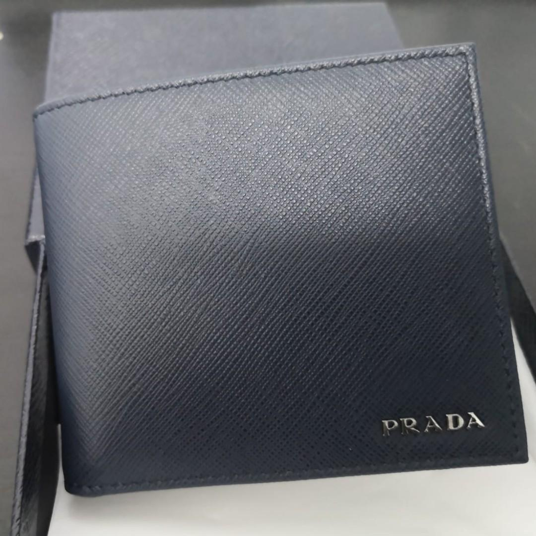 4405d1a6 PRADA Men Wallet 2MO513 Saffiano - Baltico+Nero, Luxury, Bags ...