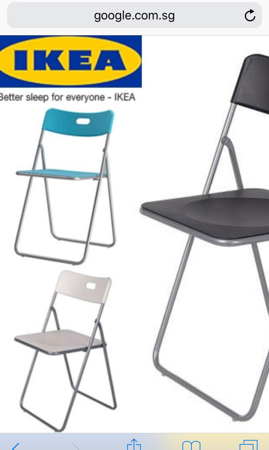Outstanding Preloved Ikea Nick Folding Chair Colour Blue 4 Pieces Squirreltailoven Fun Painted Chair Ideas Images Squirreltailovenorg