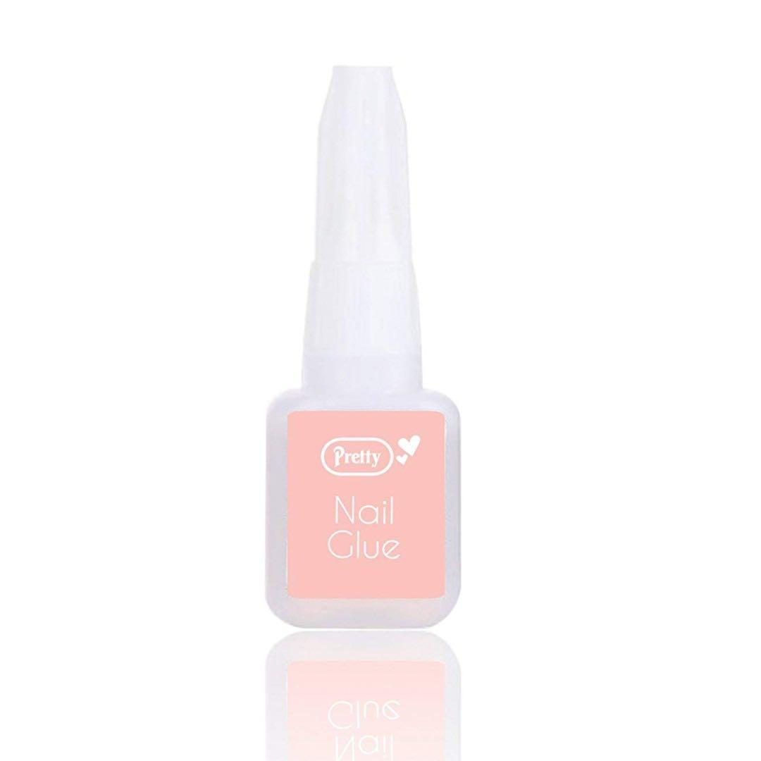 Pretty Nail Glue With Brush Applicator Quick Drying 10g