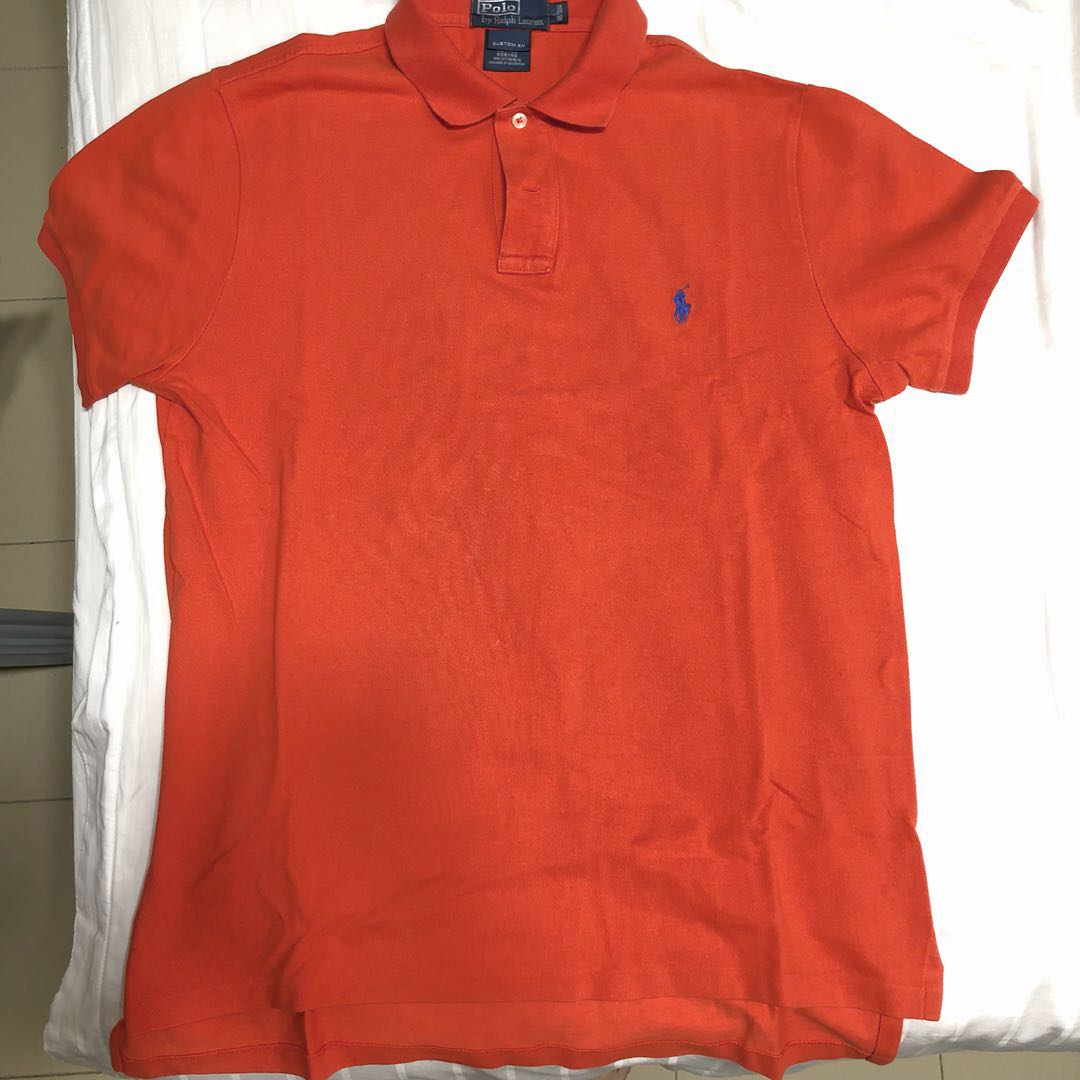 Polo Fit Orange Custom Ralph Lauren Bright Shirt CBoWxdre