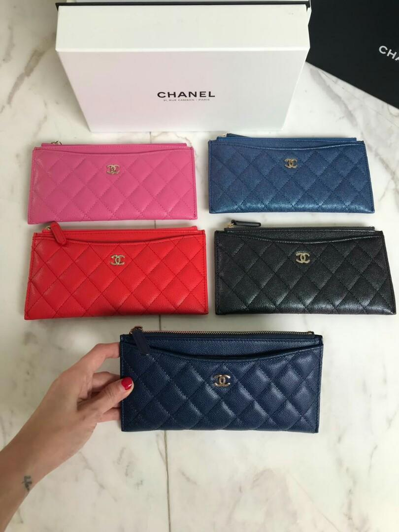 Ready Chanel Multifunction wallet complete set pink caviar cav ghw 13 red caviar ghw 13 Blue irisdiscent cav ghw 13 Black irisdiscent cav ghw 13 Navy cav ghw 13.5