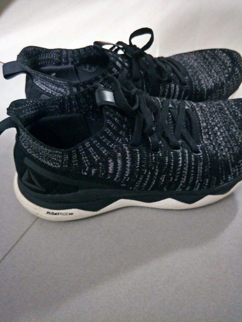 c494ed6699 Reebok Floatride RS ULTK UltraKnit Black Grey Women Running Shoes ...