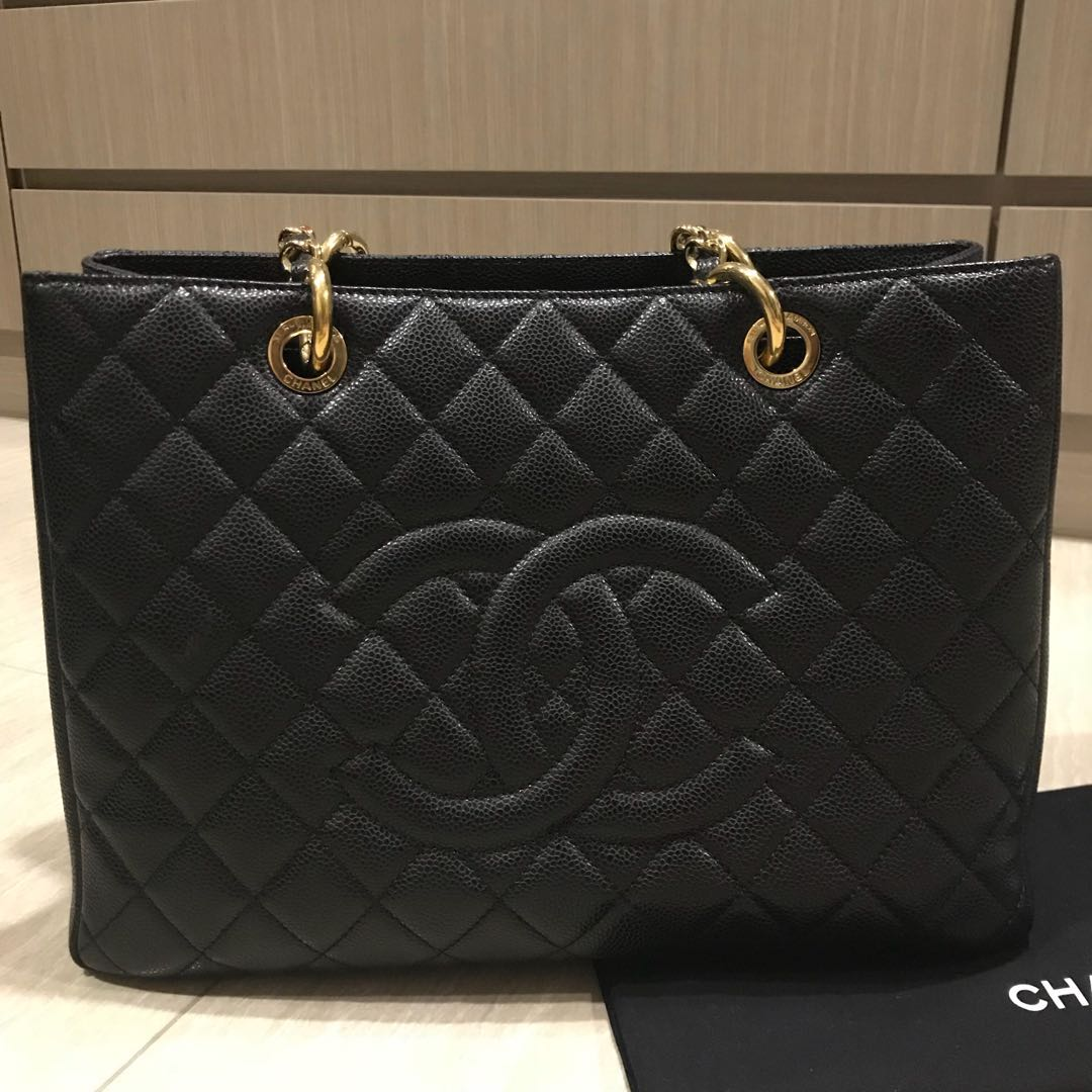 6b1a2e5a86f7 RESERVED* Authentic Almost New Chanel GST in Caviar, Luxury, Bags ...