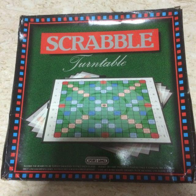 Astonishing Scrabble Turntable Toys Games Board Games Cards On Download Free Architecture Designs Scobabritishbridgeorg