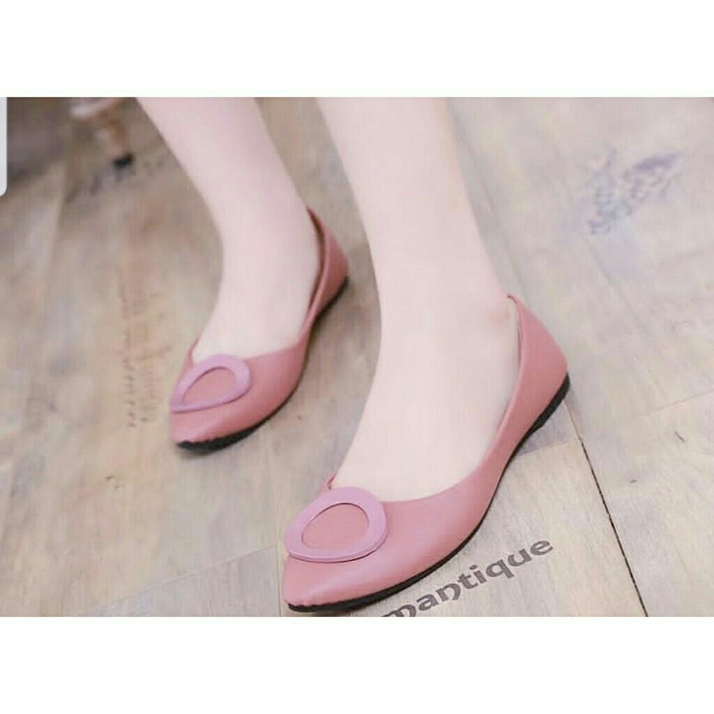 Sepatu Flat Shoes O Ring Simple Lucu