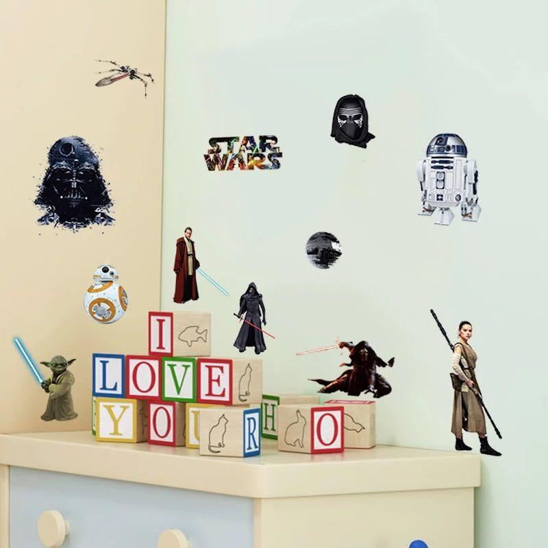 Star Wars Wall Decal Wall Stickers Home Deco Furniture Home Decor Others On Carousell