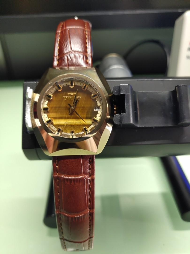 Technos 2824 鎢鋼機械錶