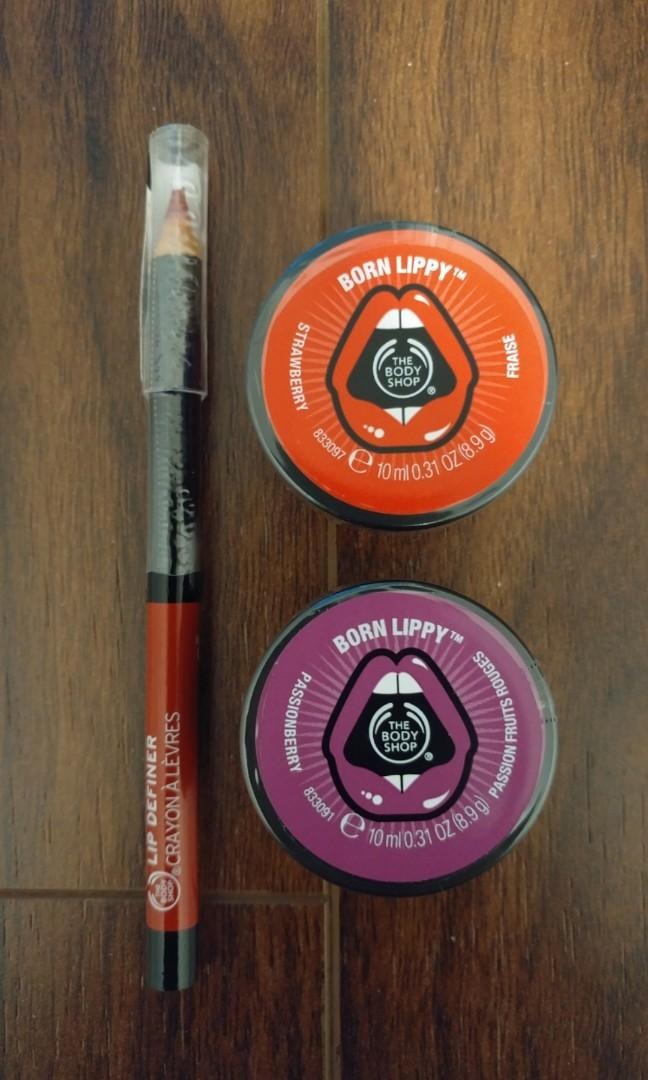 The Body Shop - Lip Liner and Lip Balms - New and Sealed