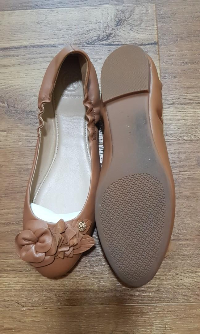 Tory Burch Ballet flats Blossom nappa leather US9