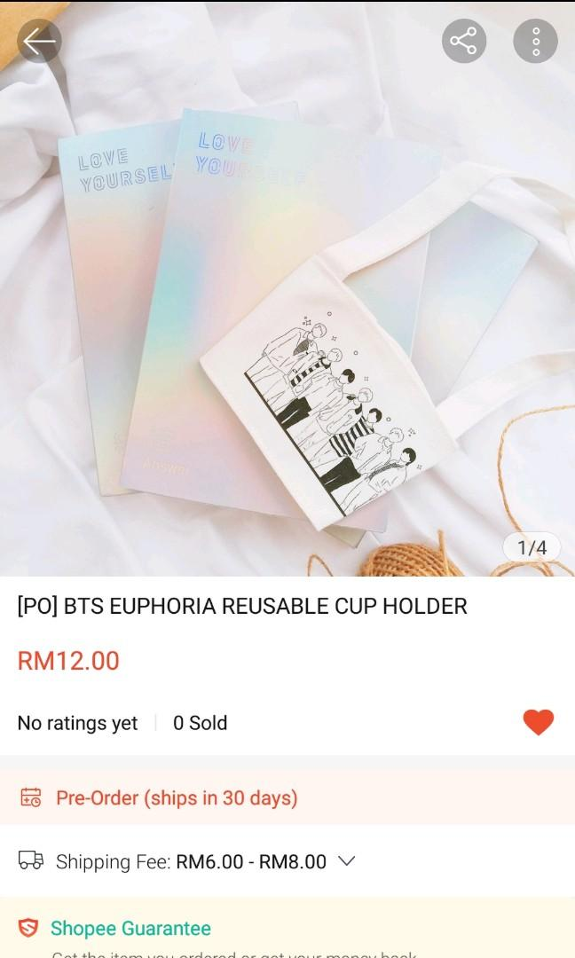 [Update] BTS Euphoria Cup Holder GO will be close at 25/4, 9.00pm