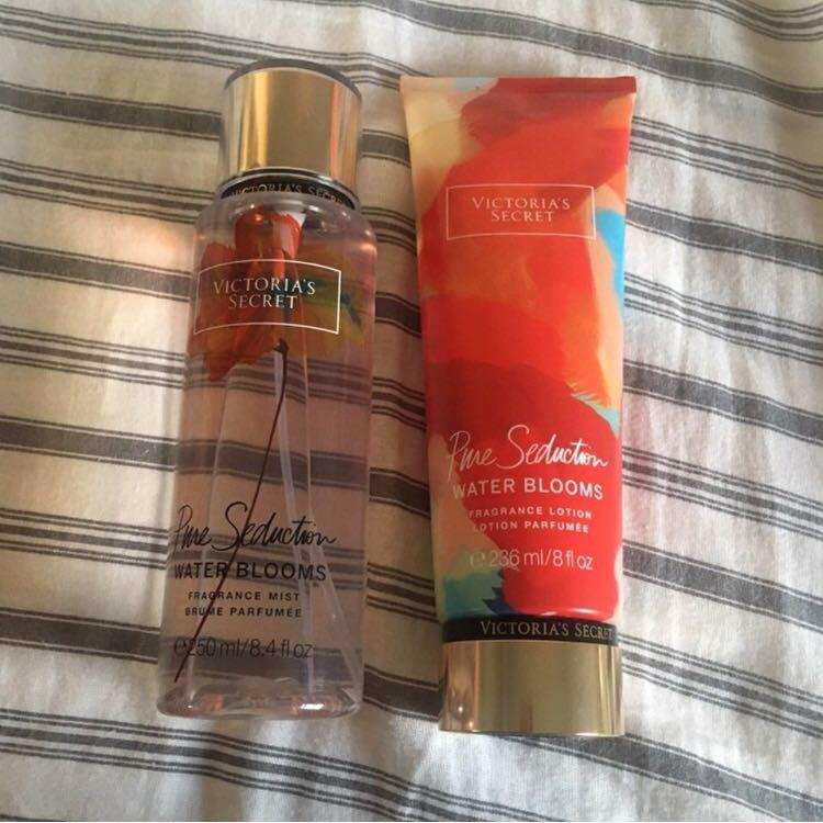 VICTORIA SECRET - Pure Seduction Water Blooms fragrance mist and lotion