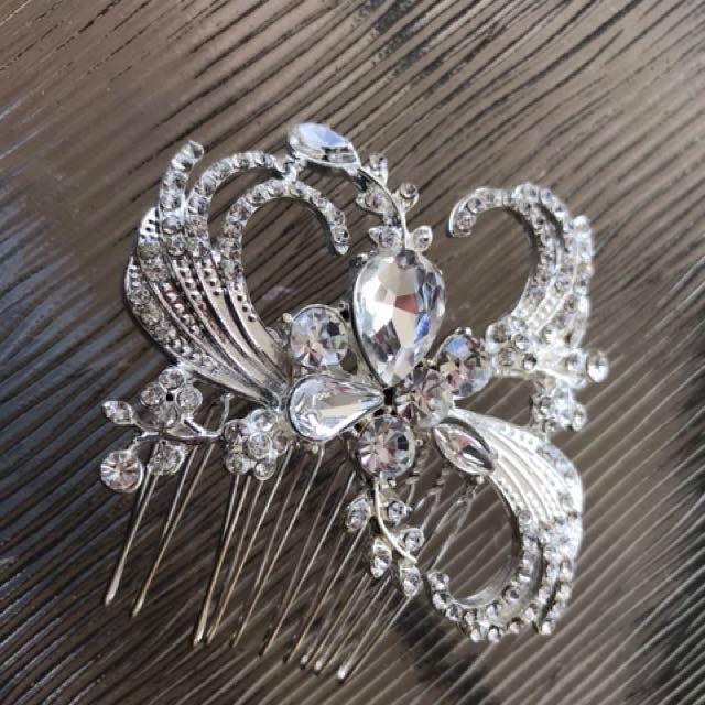 Wedding Bridal Rhinestone Hair Comb Accessory