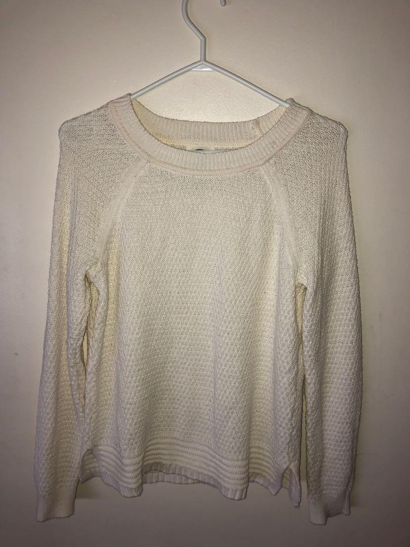 White Knit Sweater Old Navy