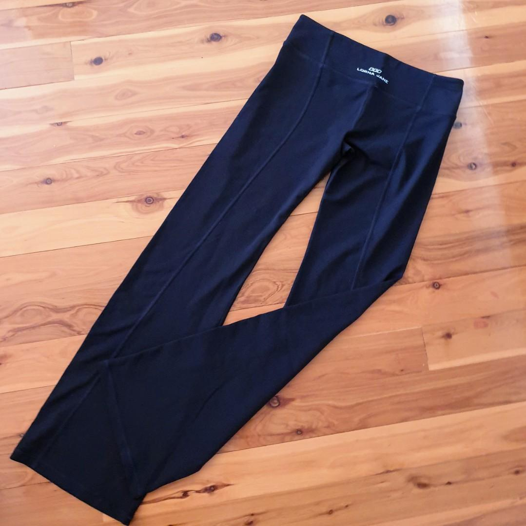 Women's size M 'LORNA JANE' Gorgeous black active wear track pants - AS NEW