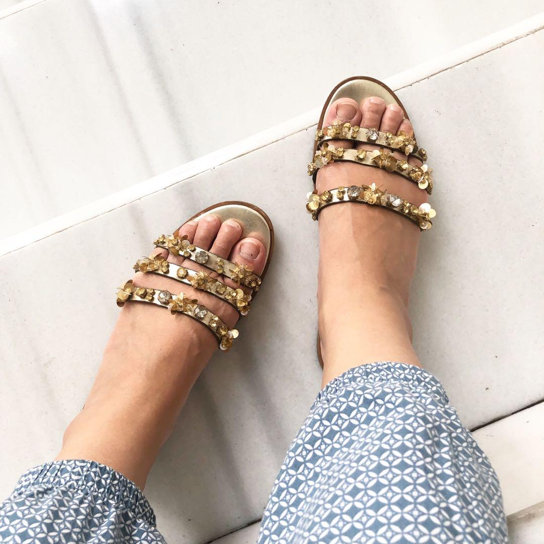 Zara Embellished Sandals