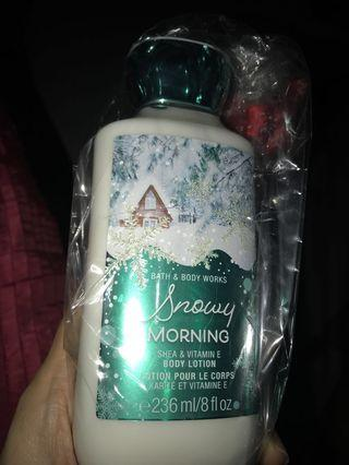 🚚 Bath and body works snowy morning body lotion