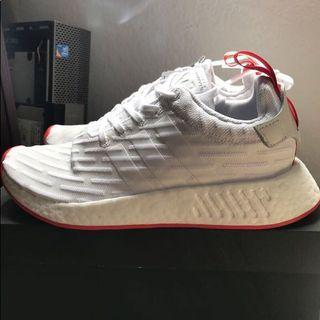 🚚 Adidas NMD R2 white red