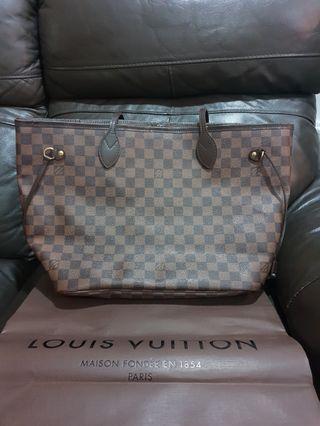 🚚 Authentic LV Neverfull MM Damier Bag