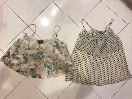 Floral crop top and polka top