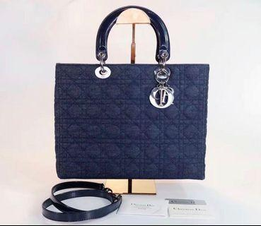 🆕Authentic LADY DIOR Denim in Large Size