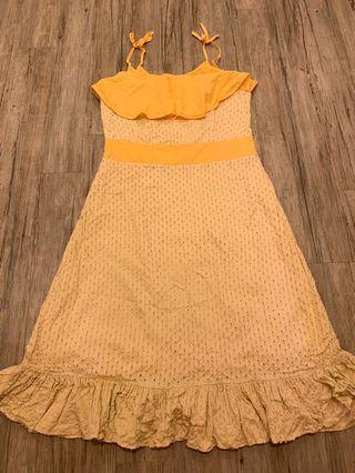 Sewn Yellow Sun Dress