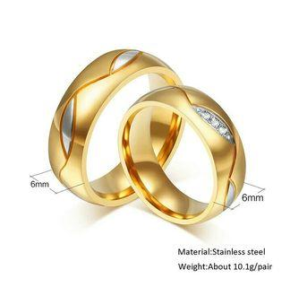 Cincin Couple ring 316L stainless steel