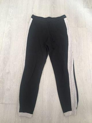 3 for $12 Black joggers with side stripe
