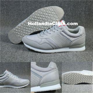 歐洲訂單復古潮流時裝女運動鞋灰色春夏防水戶外行山旅行跑步-Hc078