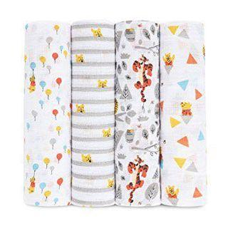 Aden by Aden and Anais Pooh swaddles