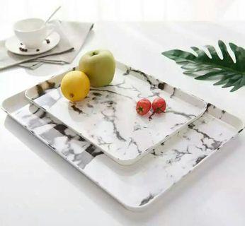 Nordic Marble Style Melamine Dish Tray