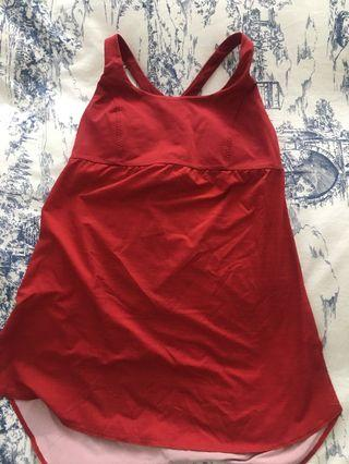 Lululemon red workout top size small