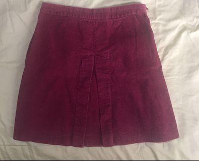 3 for $12 Maroon corduroy skirt