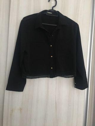 3 for $12 Crop collar shirt
