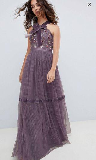Needle & thread Gown Dress in purple